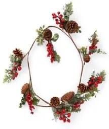 Everlands Kersttak met dennenappels en besjes 125 cm