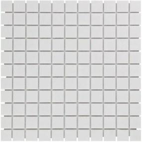 The Mosaic Factory Barcelona mozaïektegel 2.3x2.3x0.6cm wandtegel voor binnen en buiten vierkant porselein extra wit AF230051