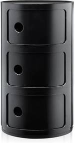 Kartell Kartell Componibili Bijzettafel Large (3 Comp.) Zwart