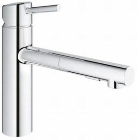 Concetto keukenkraan met uittrekbare handdouche dualspray chroom