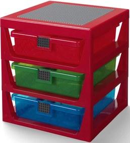 Opbergrek Lego 3 lades rood