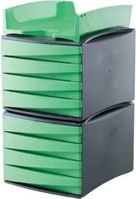 G2DESK ladenblok donkergrijs/groen