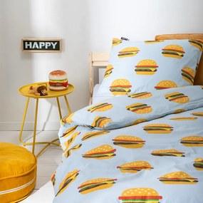 Fresh&Co Kids Dekbedovertrek Burgers 1-persoons (140 x 200 + 1 kussensloop) Dekbedovertrek