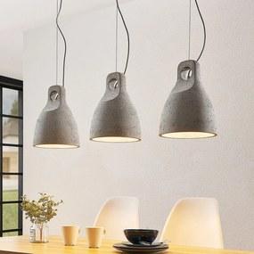 Ibu hanglamp van beton, 3-lamps - lampen-24