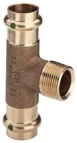 Viega Profipress T stuk SC buitendraad 35x3/4x35mm brons 194147