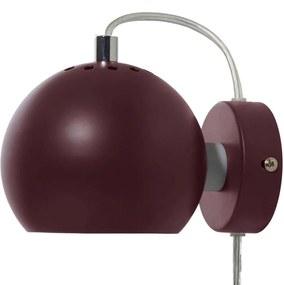 Frandsen Ball wandlamp LED mat bordeaux