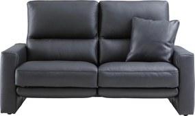 Goossens Excellent Bank Concept Pluss Met Relaxfunctie zwart, leer, 2,5-zits, stijlvol landelijk