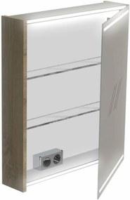 Deluxe Spiegelkast linksdraaiend 70x60x13,5 cm Cubanit Grijs