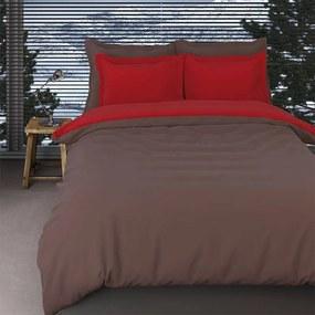 Romanette Comtesse - Verwarmend Flanel Bruin/Rood Lits-jumeaux XL (270 x 200/220 cm + 2 kussenslopen) Dekbedovertrek