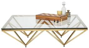 Kare Design Network Gold Glazen Salontafel Network Gold - 105 X 105cm.