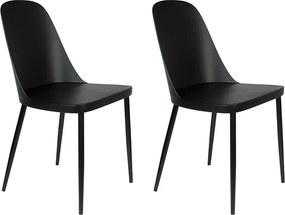 Kantinestoel Pip - Set van 2 stoelen - Zwart