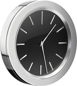 Time klok 6cm zwart/chroom