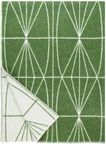 Plaid wol: groen met witte lijnen