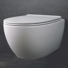 4ALL hangtoilet Rimless mat wit - met Softclose zitting