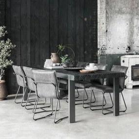 DTP Home Timeless Black Beam Robuuste Eettafel Zwart Teak 250 Cm - 250 X 100cm.