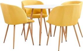 5-delige Eethoek stof geel