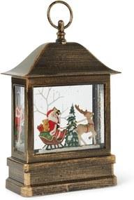 Konstsmide Lantaarn met kerstman op slee kerstdecoratie 25 cm