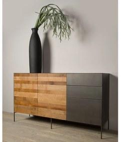 Tower Living Dressoir Van Teakhout En Metaal 2D Pandora - 166x45x92cm.