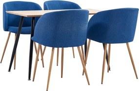 5-delige Eethoek stof blauw