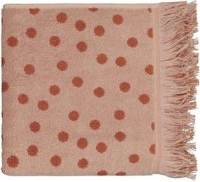 Handdoek - 50 X 100 - Zware Kwaliteit - Bruin Gestipt