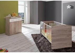 Voordeelset babykamer »York«, ledikantje + commode (2-dlg.), in imitatie-sanremo-eiken/alpinewit