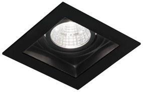 Cantello inbouw LED spot 90x90 mm vierkant zwart
