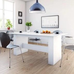 Eettafel 180x90x76 cm spaanplaat hoogglans wit