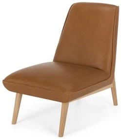 Eldin fauteuil, Hampton bruin leer