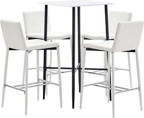 5-delige Barset kunstleer wit