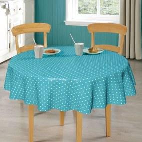 Rond tafelzeil Dots Aqua