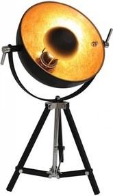 Nice Industrieel Design Hoge Tafellamp Goud Zwart