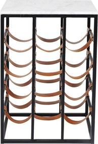 Kare Design Key West Bijzettafel Met Wijnrek - 43 X 32cm.
