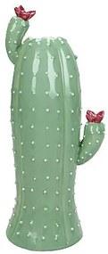 Vaas cactus groot - groen - 11.3x7.7x21.7 cm