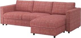IKEA VIMLE Hoes 3-zits slaapbank Met chaise longue/dalstorp veelkleurig - lKEA