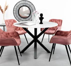 Sohome Ronde Eettafel Lille Wit marmer, 110cm