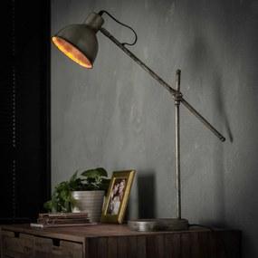 Vintage Bureaulamp Oud Zilver