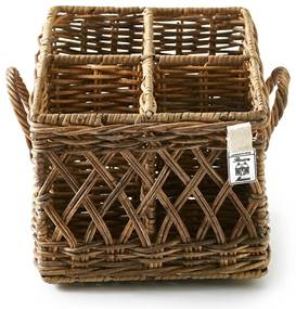 Rivièra Maison - Rustic Rattan Couvert Basket Square - Kleur: bruin