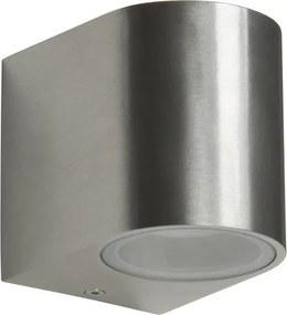 LED Wandlamp voor Buiten 3W Geborsteld Aluminium, Halfrond, GU10 Fitting