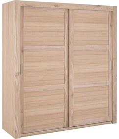 Goossens Excellent Kledingkast Duo Stripe, 200 cm breed, 223 cm hoog, 2 x 3 houtpaneel schuifdeuren