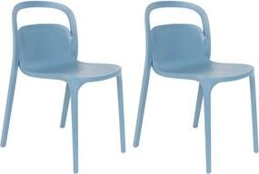 Kantinestoel Rex - Set van 2 stoelen - Blauw