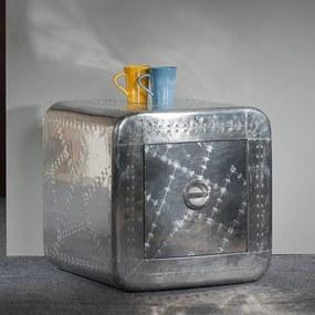 Aluminium Nachtkastje - 50x50x50cm.