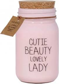 Scented soy candle pink cutie beauty