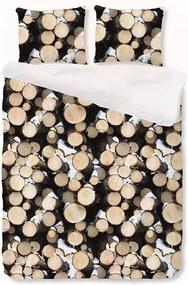 House Of Dreams Wood - Bruin 2-persoons (200 x 200/220 cm + 2 kussenslopen) Dekbedovertrek
