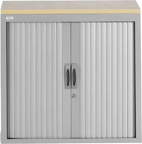 Roldeurkast Proline 120 x 120 cm incl. 2 legborden - Aluminium