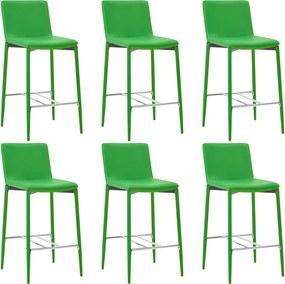 Barstoelen 6 st kunstleer groen
