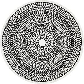 Vitra Round Geometric tafelkleed 120 zwart