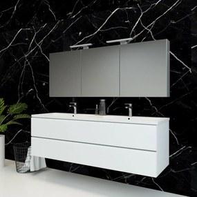 Spiegelkast Pandora 160x60x14cm Aluminium LED Verlichting Stopcontact Binnen en Buiten Spiegel Glazen Planken