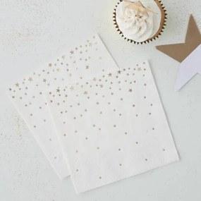 Papieren servetten - Cocktail - Goud 20 stuks