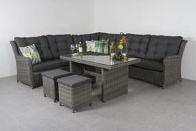 Lounge dining set Richmond - Ash grey