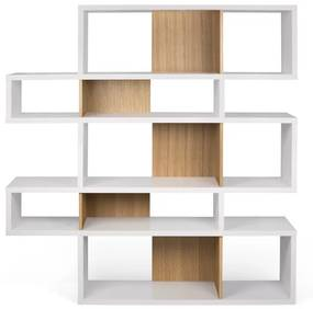 TemaHome London Design Boekenkast Wit - Eiken - 156x34x160cm.